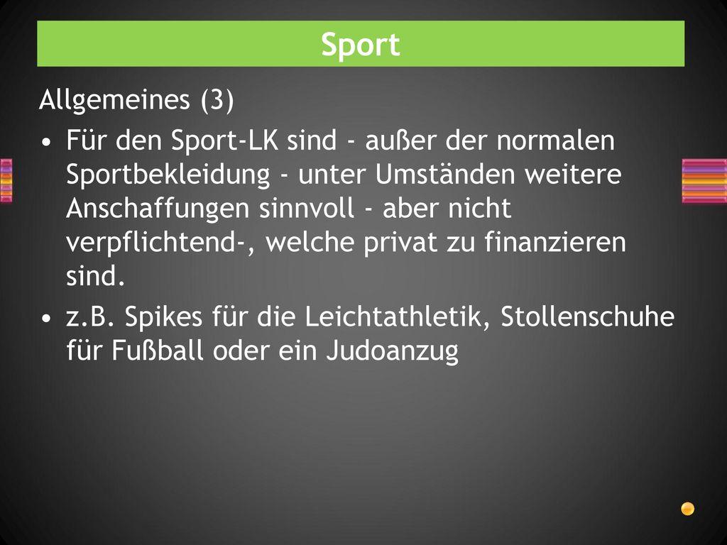 Sport Allgemeines (3)