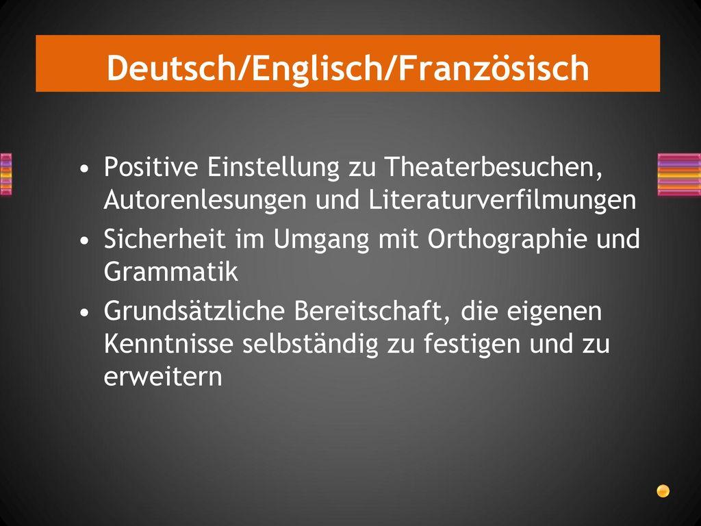 Deutsch/Englisch/Französisch