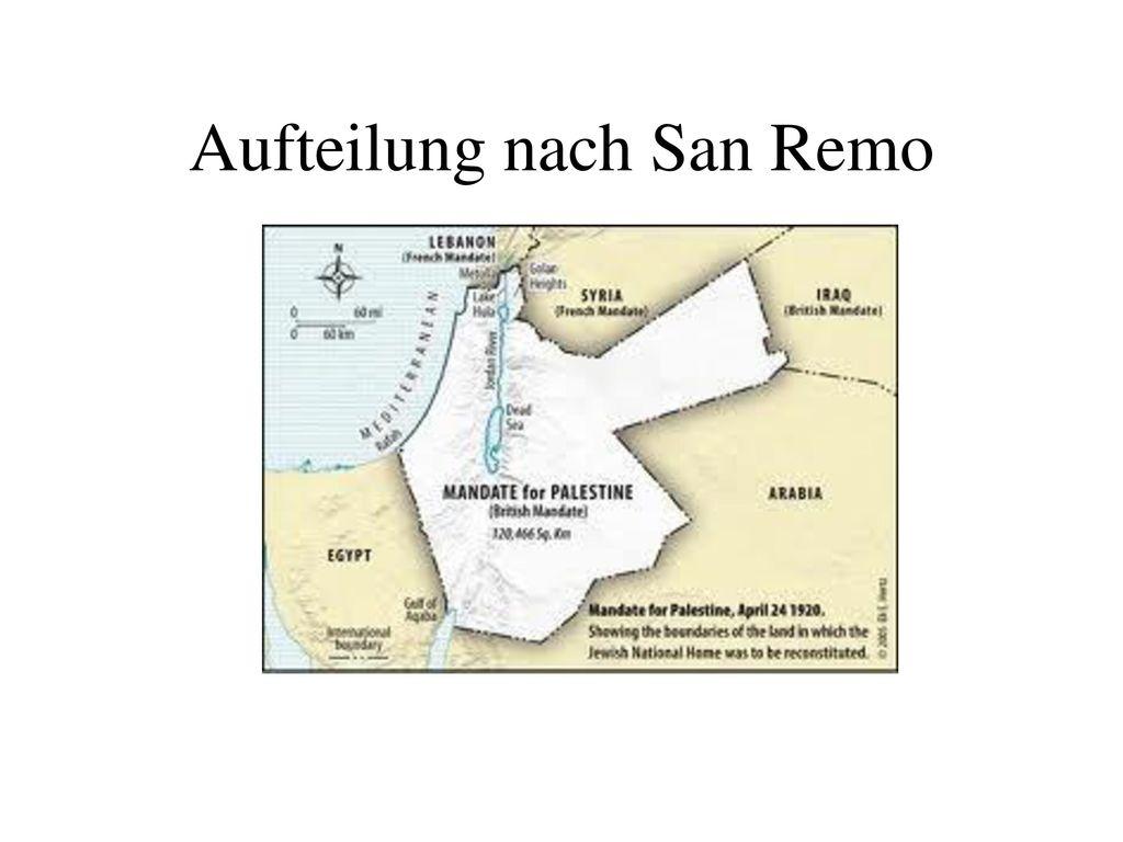Aufteilung nach San Remo