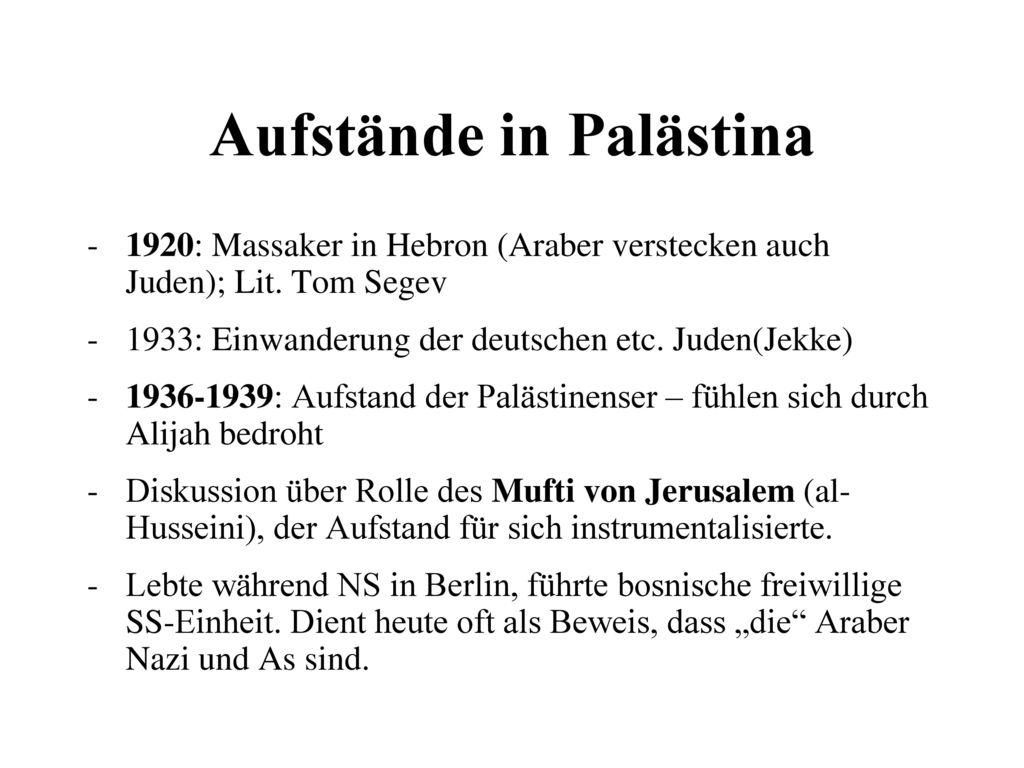 Aufstände in Palästina