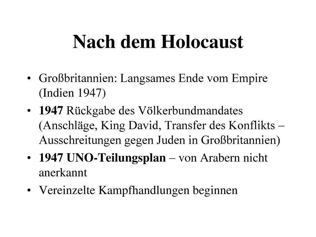 Nach dem Holocaust Großbritannien: Langsames Ende vom Empire (Indien 1947)