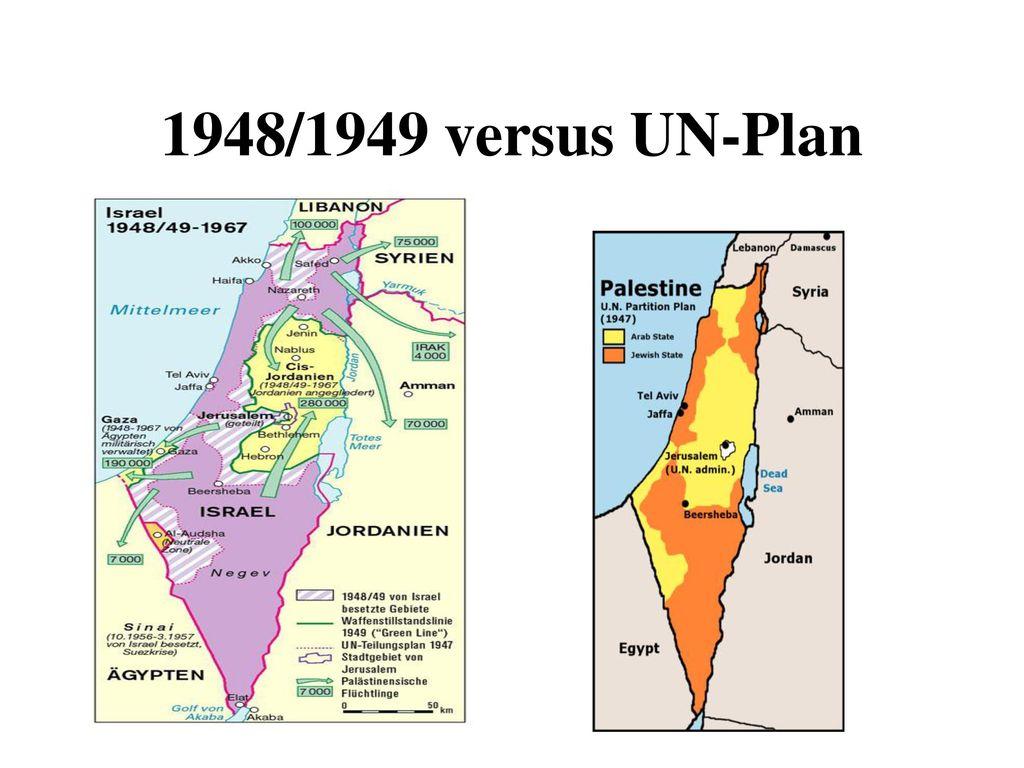 1948/1949 versus UN-Plan