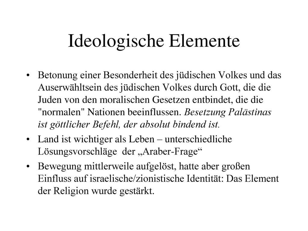 Ideologische Elemente