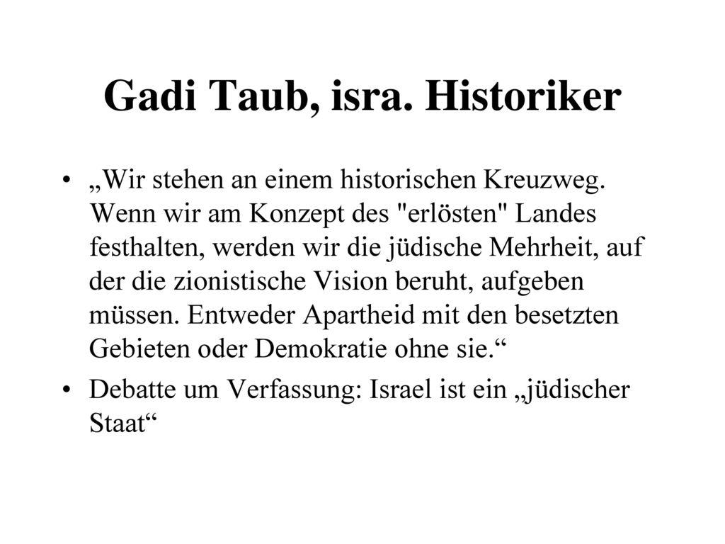 Gadi Taub, isra. Historiker
