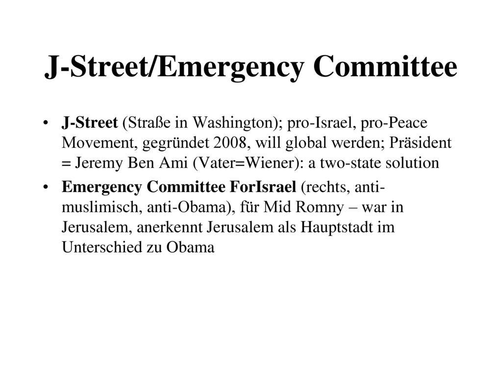 J-Street/Emergency Committee