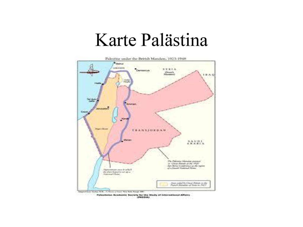 Karte Palästina