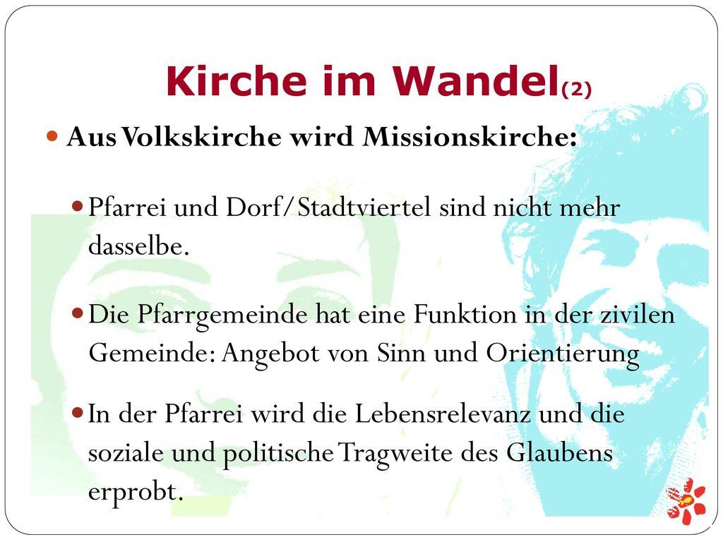 Kirche im Wandel(2) Aus Volkskirche wird Missionskirche: