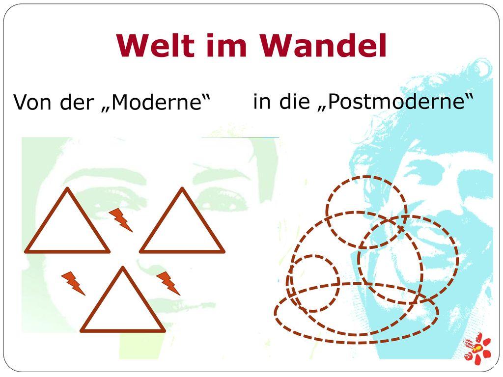 """Welt im Wandel Von der """"Moderne in die """"Postmoderne"""