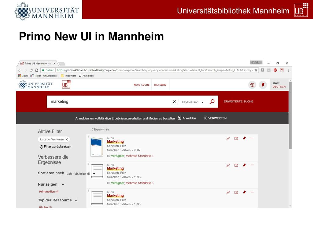 Primo New UI in Mannheim