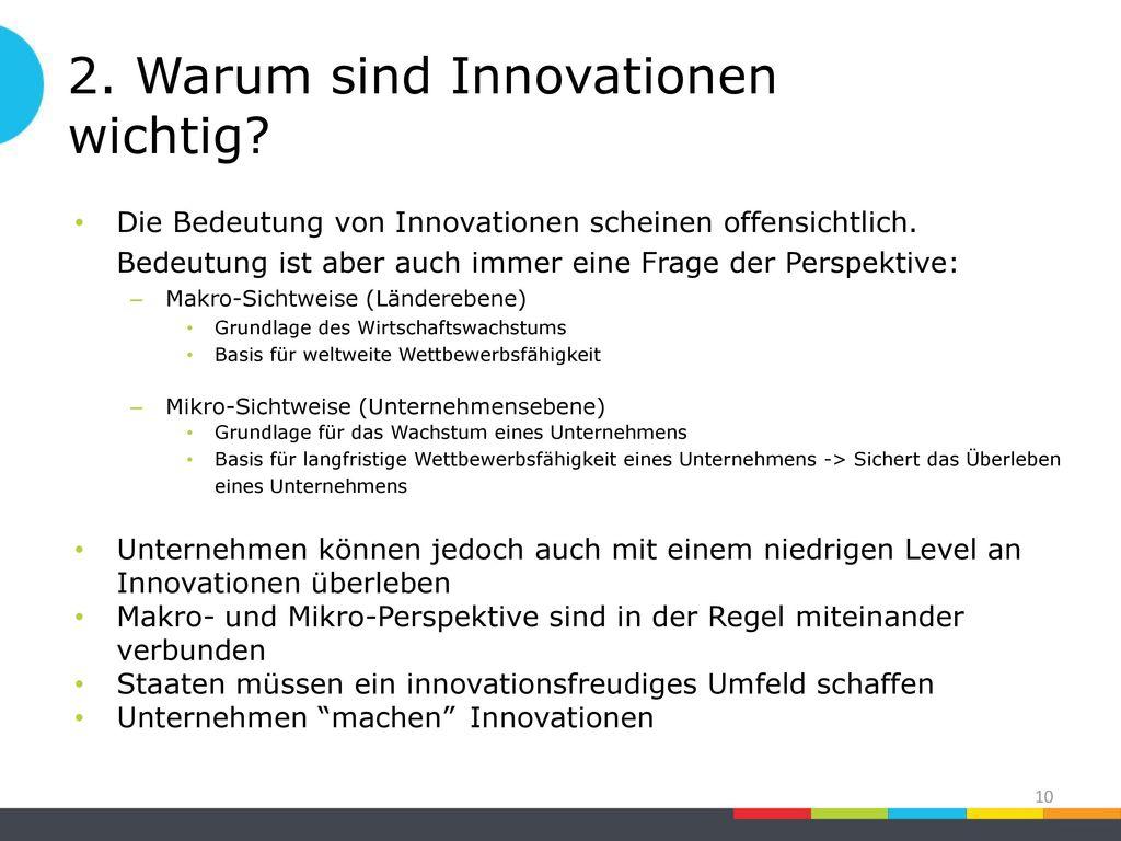2. Warum sind Innovationen wichtig