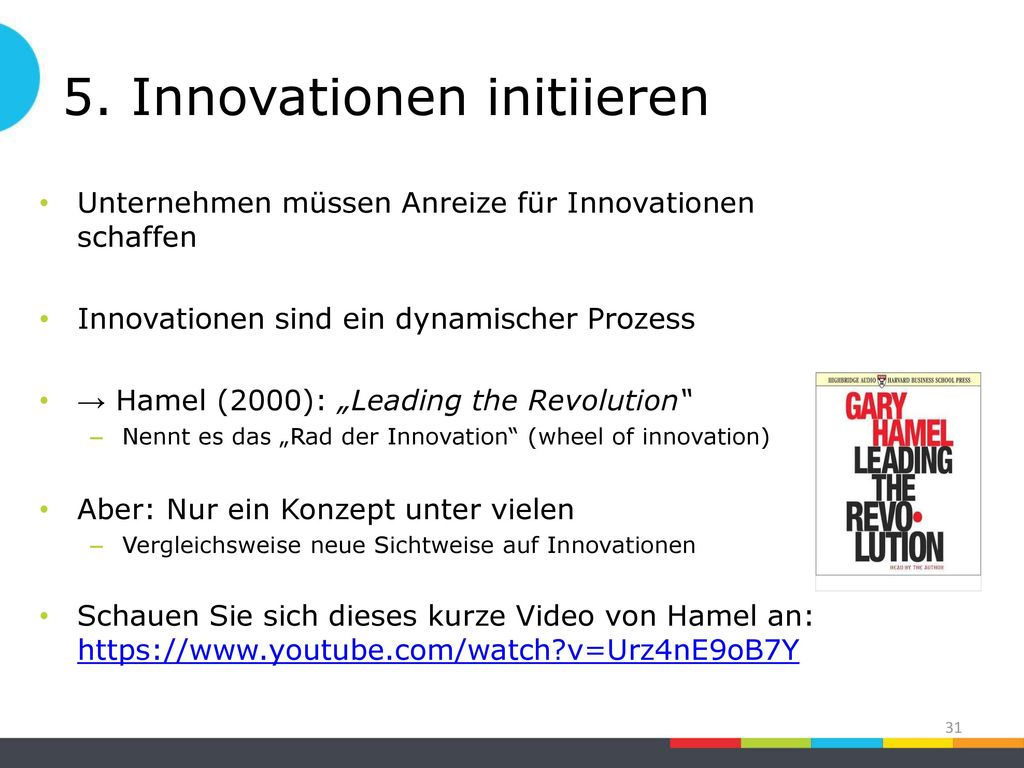 5. Innovationen initiieren
