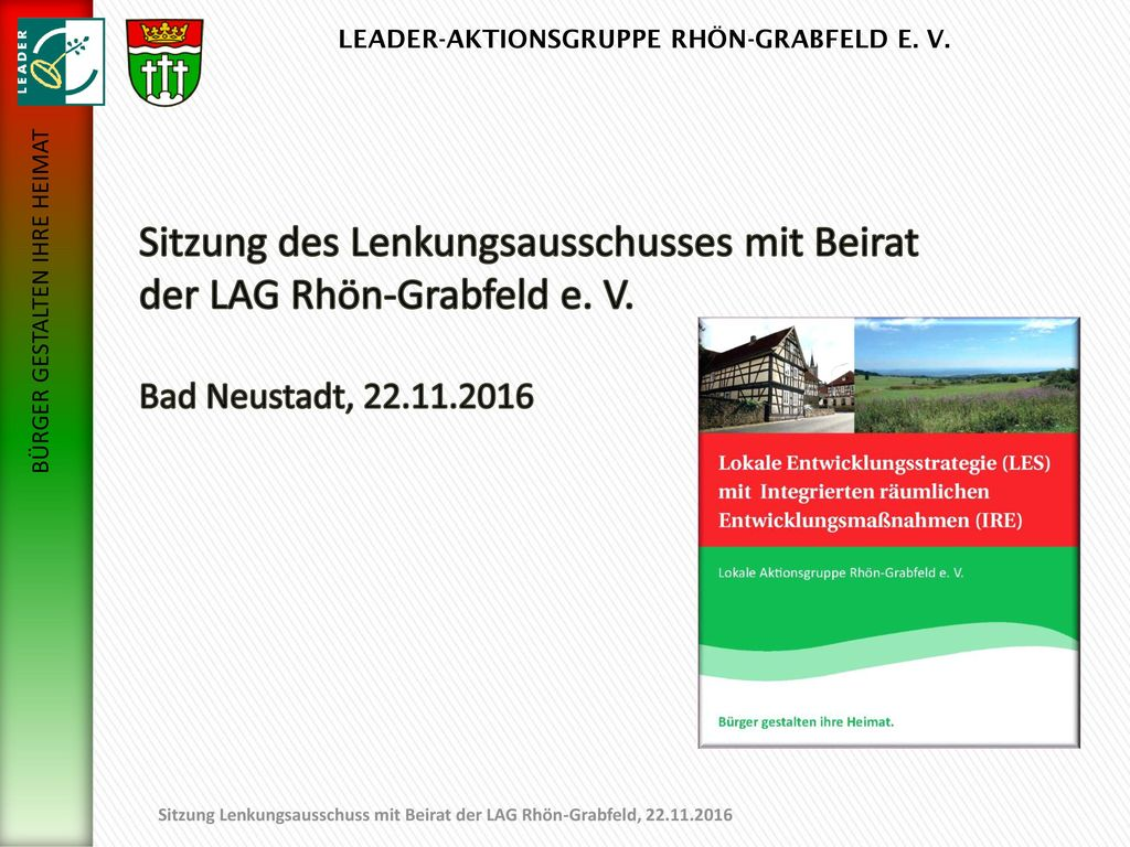 01.11.2017 Sitzung des Lenkungsausschusses mit Beirat der LAG Rhön-Grabfeld e.