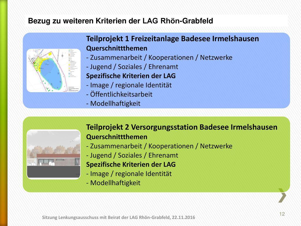 Teilprojekt 1 Freizeitanlage Badesee Irmelshausen