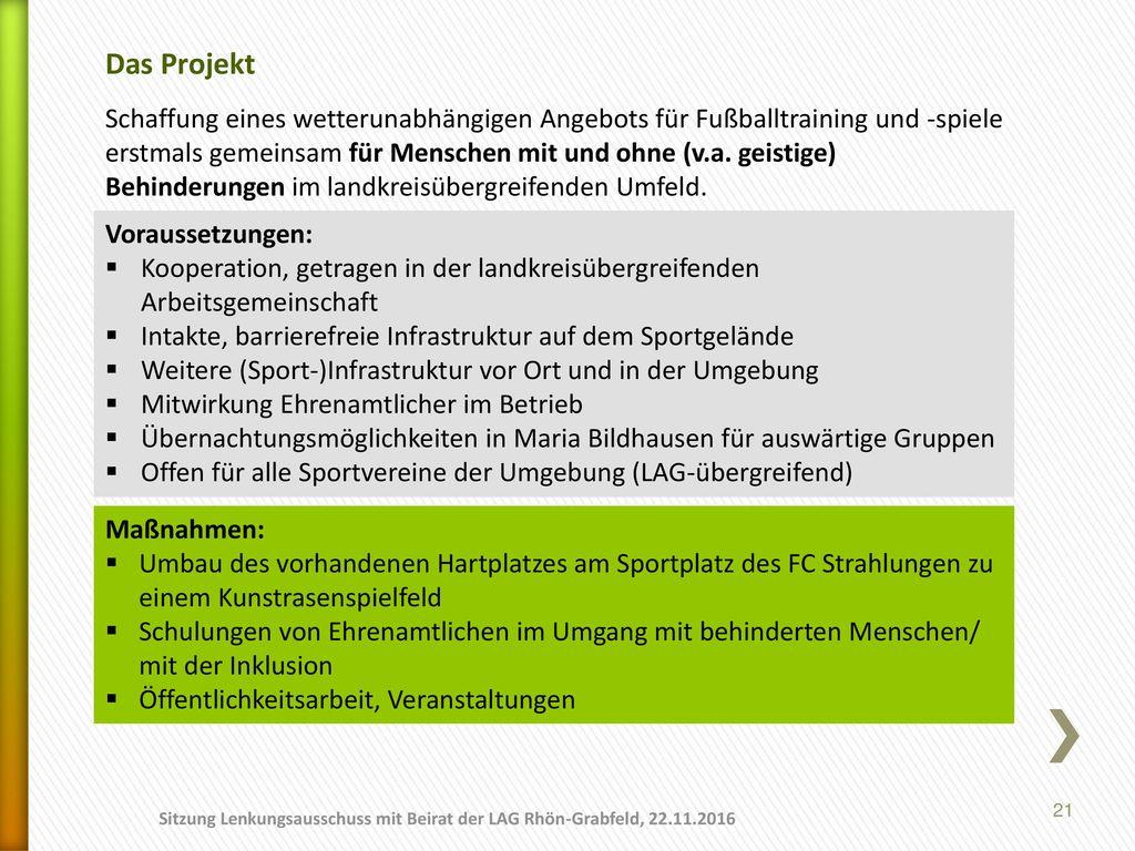01.11.2017 Das Projekt.