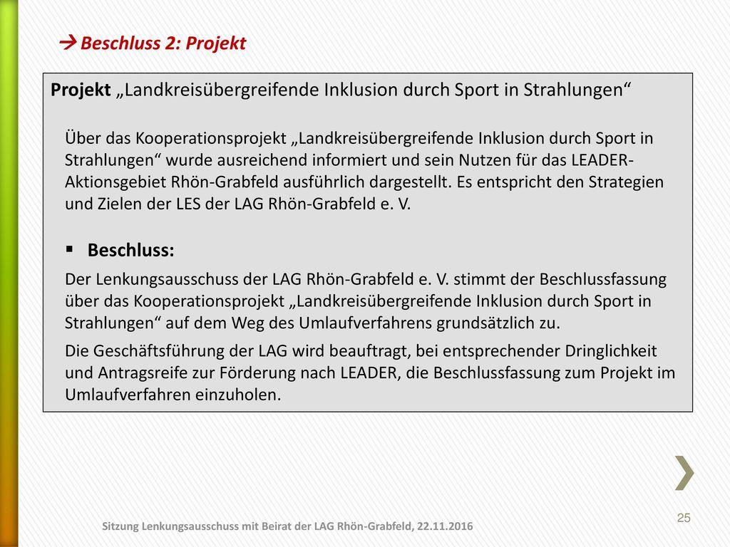 """Projekt """"Landkreisübergreifende Inklusion durch Sport in Strahlungen"""