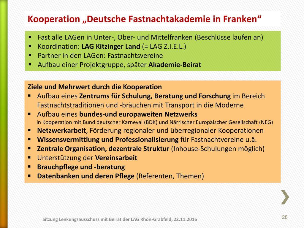 """Kooperation """"Deutsche Fastnachtakademie in Franken"""