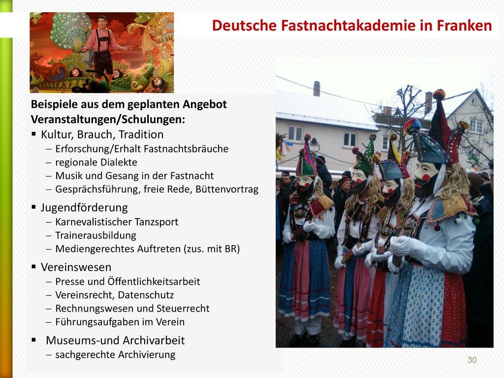 Deutsche Fastnachtakademie in Franken