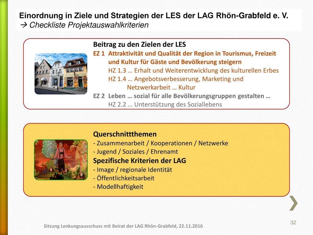 Einordnung in Ziele und Strategien der LES der LAG Rhön-Grabfeld e. V.