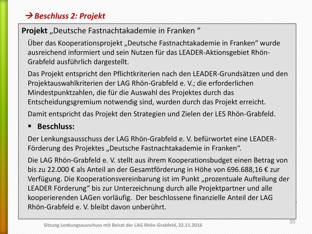 """Projekt """"Deutsche Fastnachtakademie in Franken"""