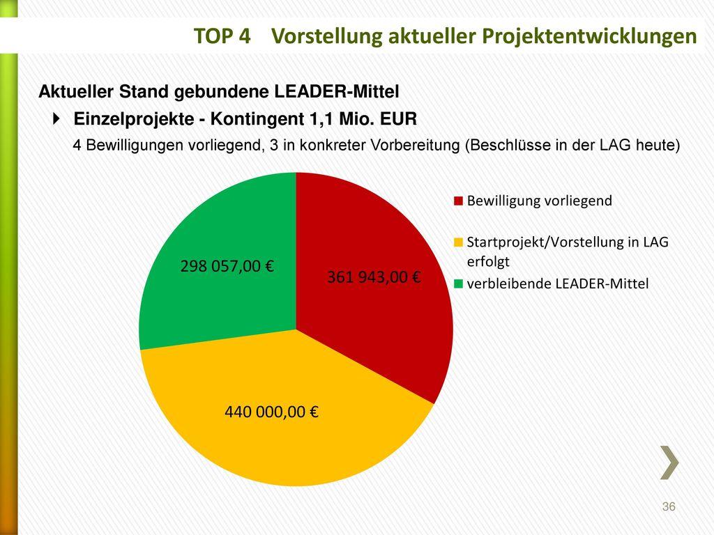 TOP 4 Vorstellung aktueller Projektentwicklungen