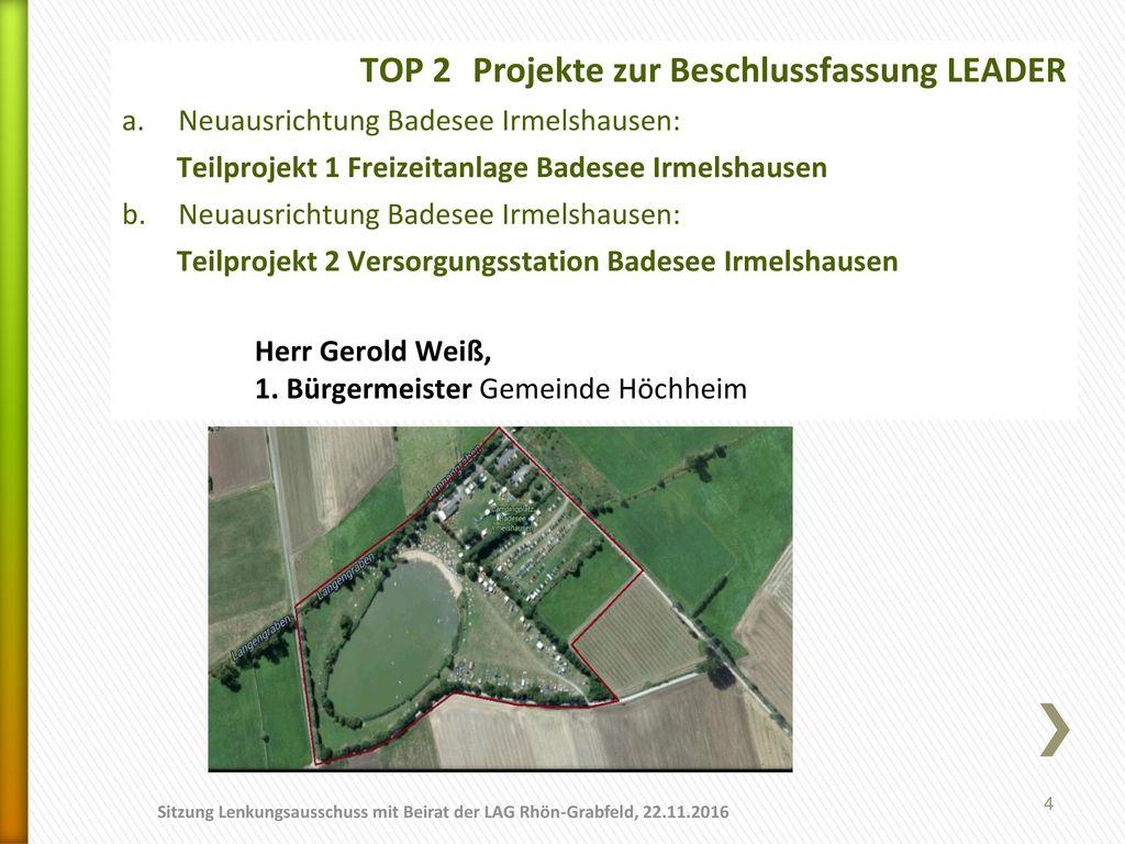 TOP 2 Projekte zur Beschlussfassung LEADER
