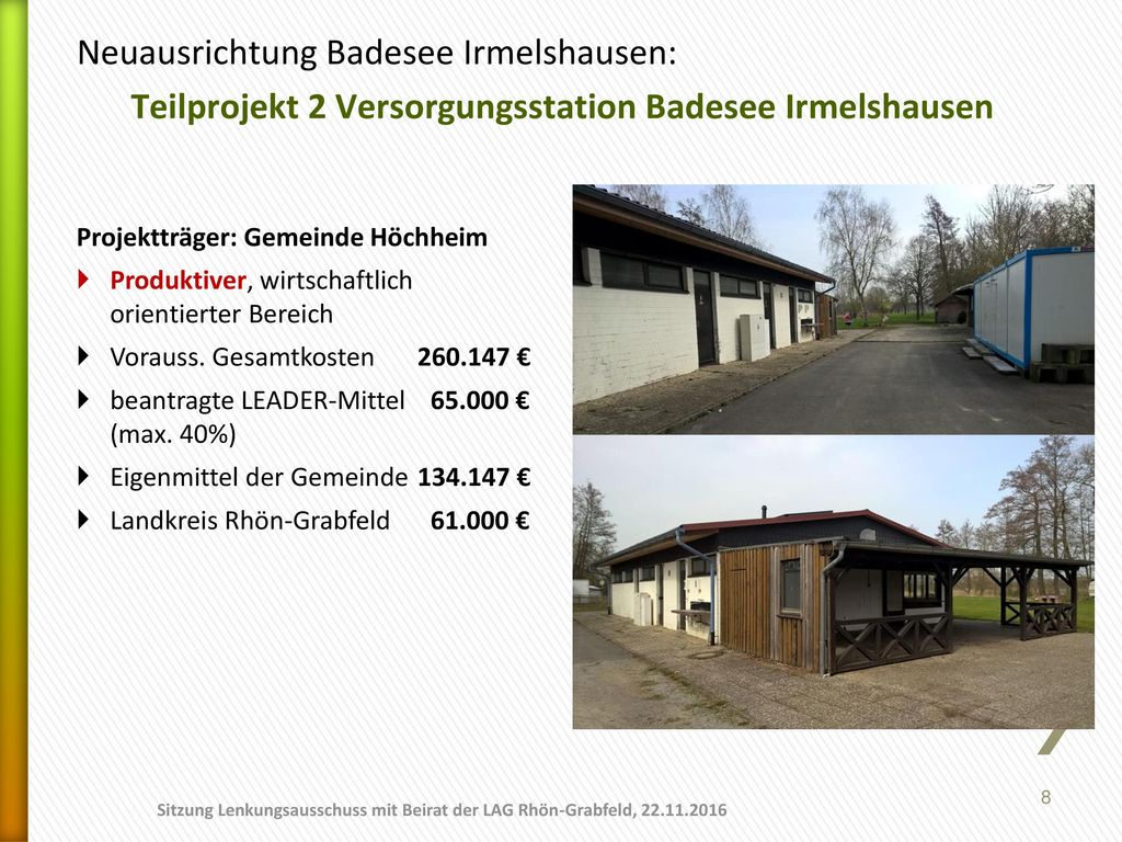 Neuausrichtung Badesee Irmelshausen: