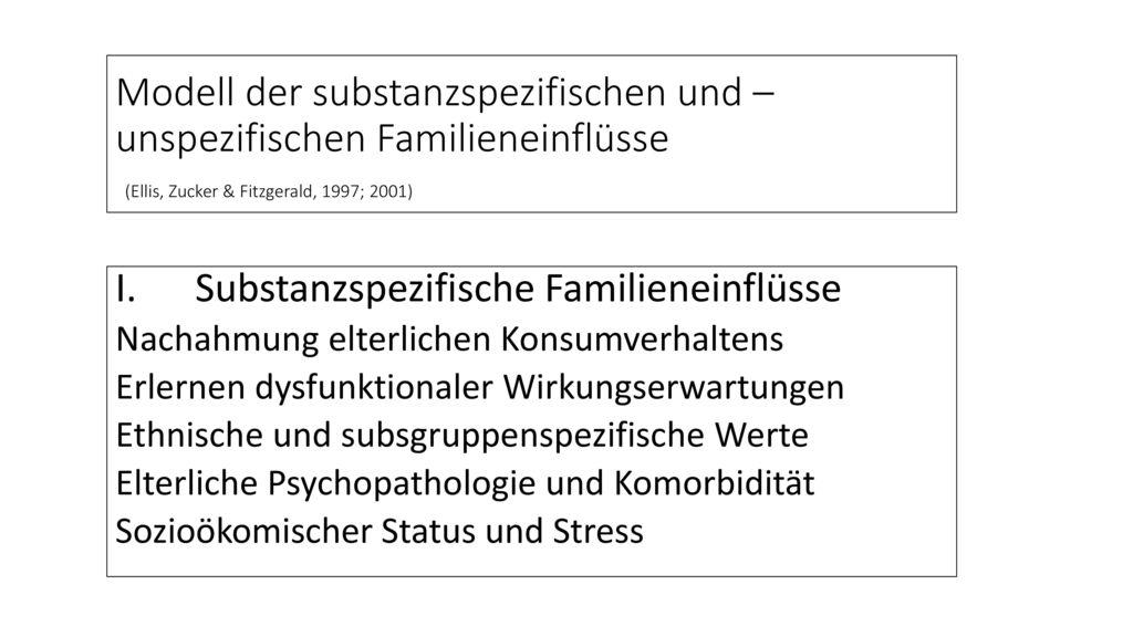 Substanzspezifische Familieneinflüsse