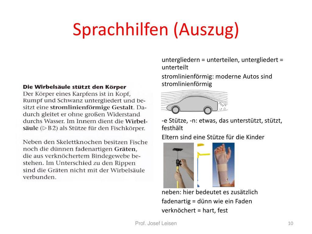 Sprachhilfen (Auszug)