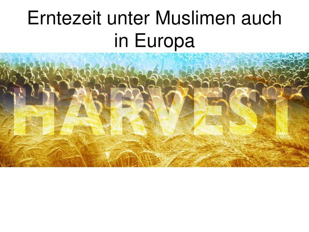 Erntezeit unter Muslimen auch in Europa