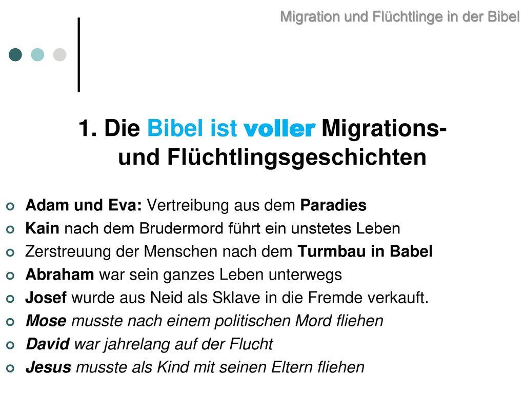 Migration und Flüchtlinge in der Bibel