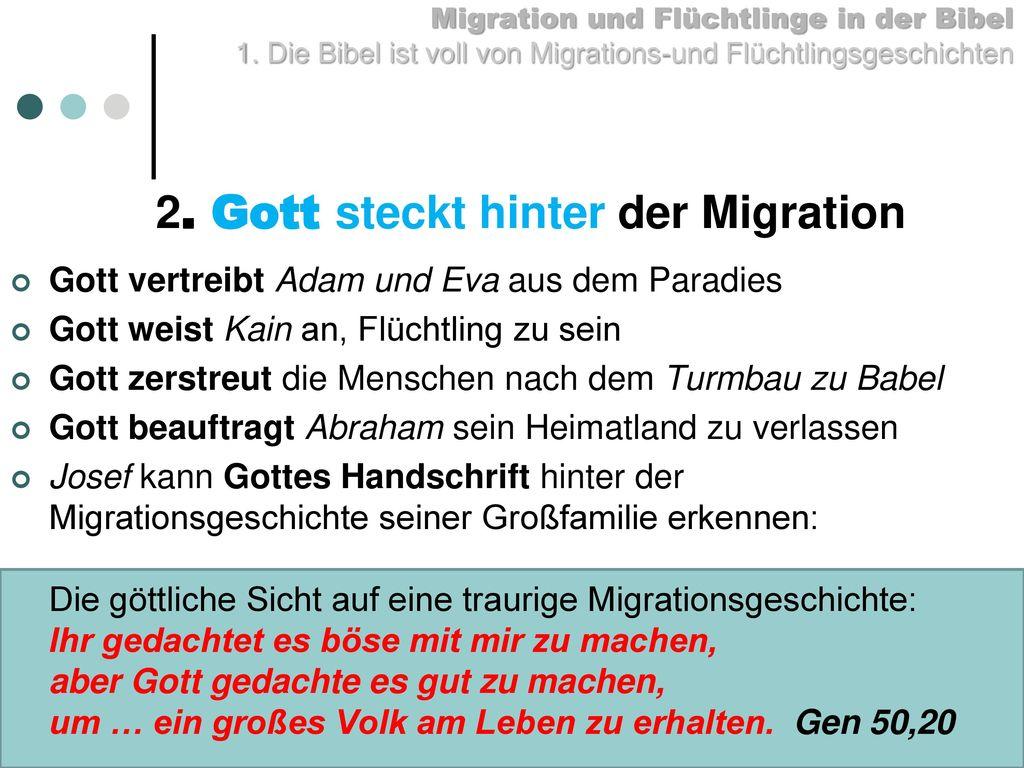 2. Gott steckt hinter der Migration