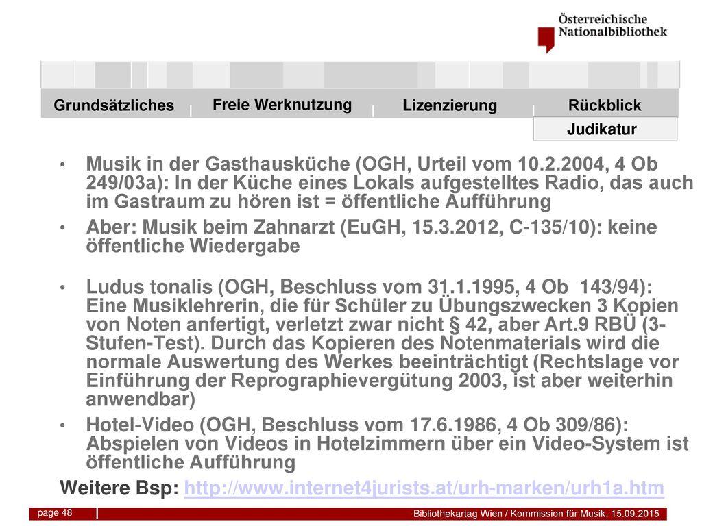 Weitere Bsp: http://www.internet4jurists.at/urh-marken/urh1a.htm