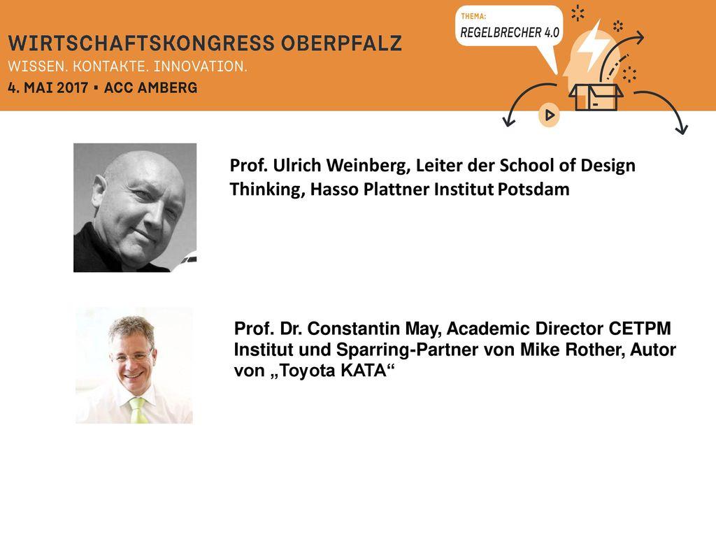 Prof. Ulrich Weinberg, Leiter der School of Design Thinking, Hasso Plattner Institut Potsdam