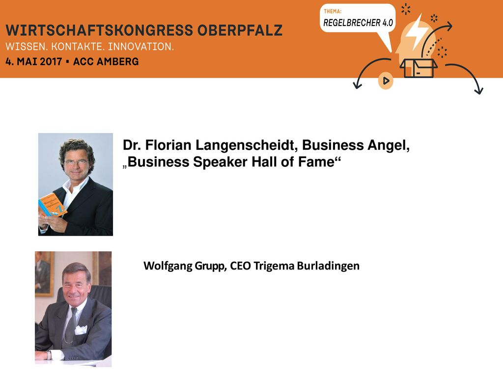 Dr. Florian Langenscheidt, Business Angel,