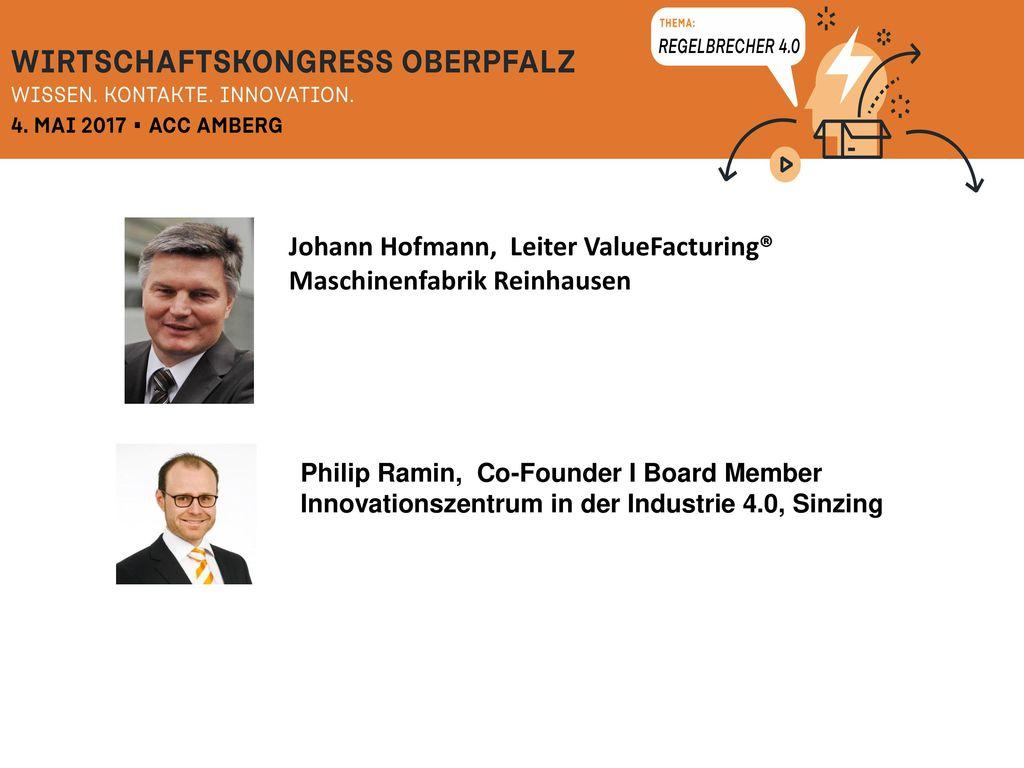 Johann Hofmann, Leiter ValueFacturing® Maschinenfabrik Reinhausen