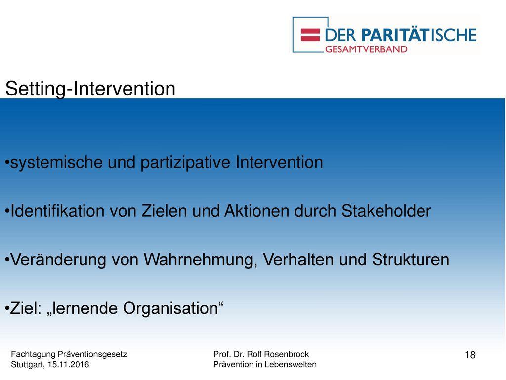 Setting-Intervention