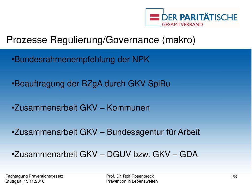 Prozesse Regulierung/Governance (makro)