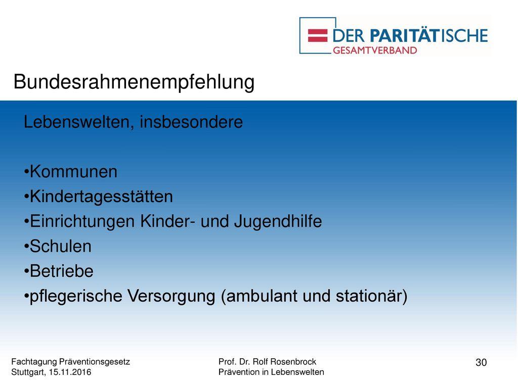 Bundesrahmenempfehlung