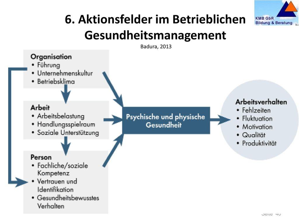 5. Überwinden von Widerständen Die Kraftfeldanalyse im BGM/BGF