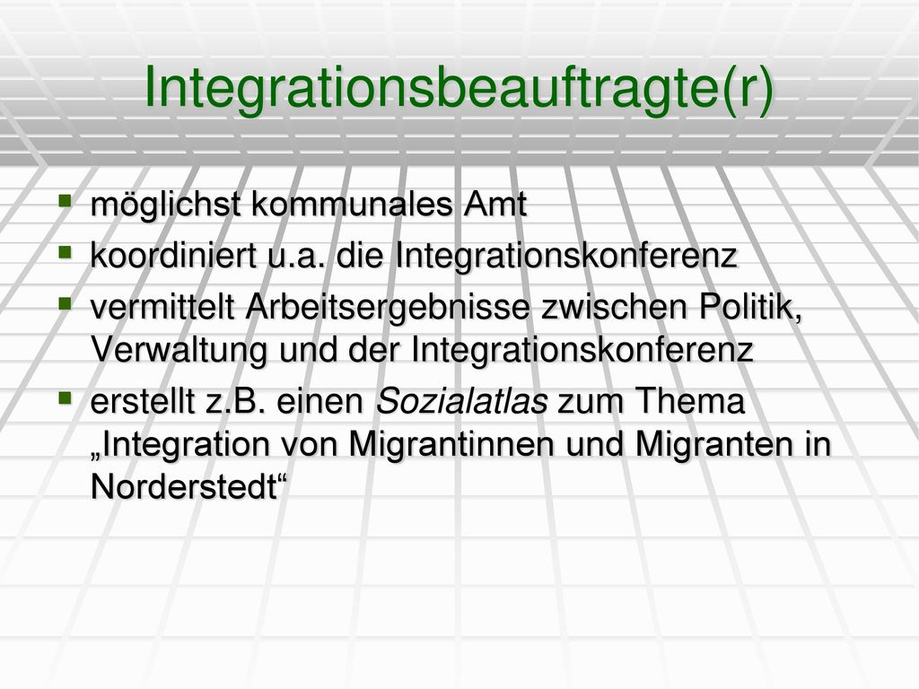 Integrationsbeauftragte(r)