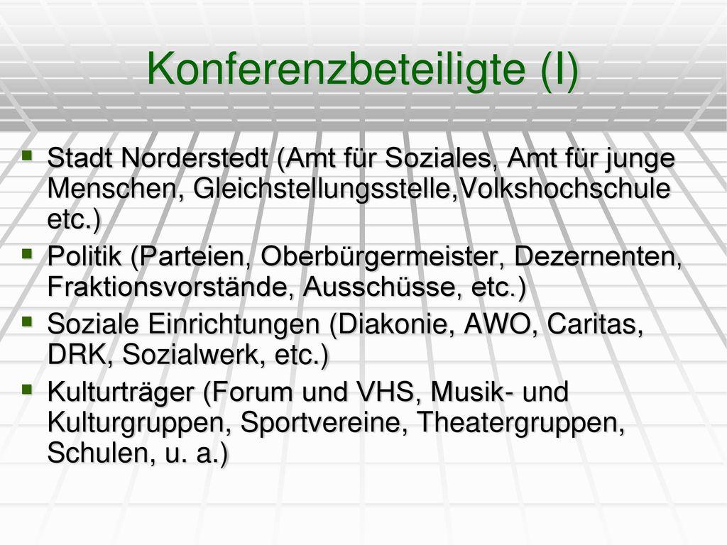 Konferenzbeteiligte (I)