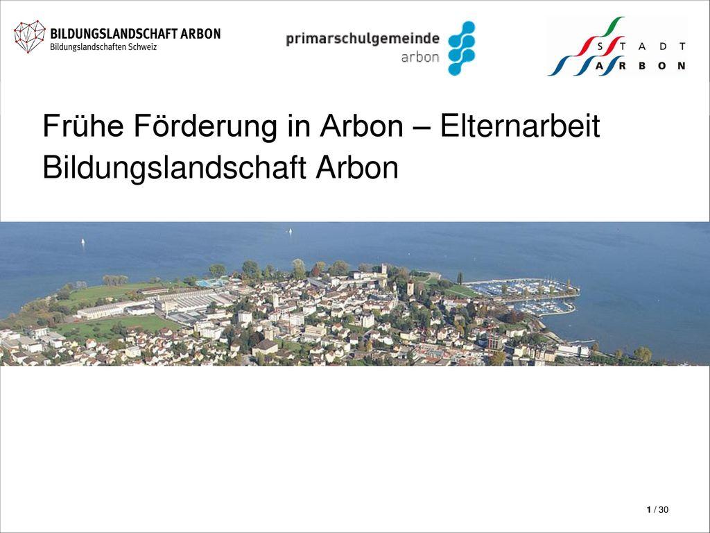 Frühe Förderung in Arbon – Elternarbeit Bildungslandschaft Arbon