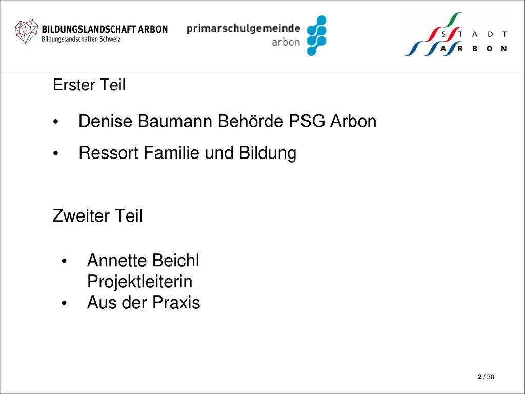 Denise Baumann Behörde PSG Arbon Ressort Familie und Bildung