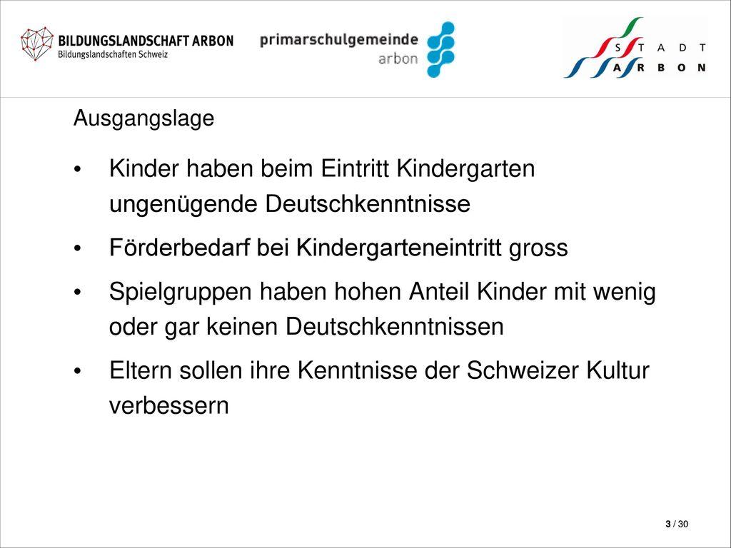Kinder haben beim Eintritt Kindergarten ungenügende Deutschkenntnisse