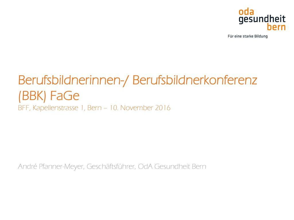 André Pfanner-Meyer, Geschäftsführer, OdA Gesundheit Bern