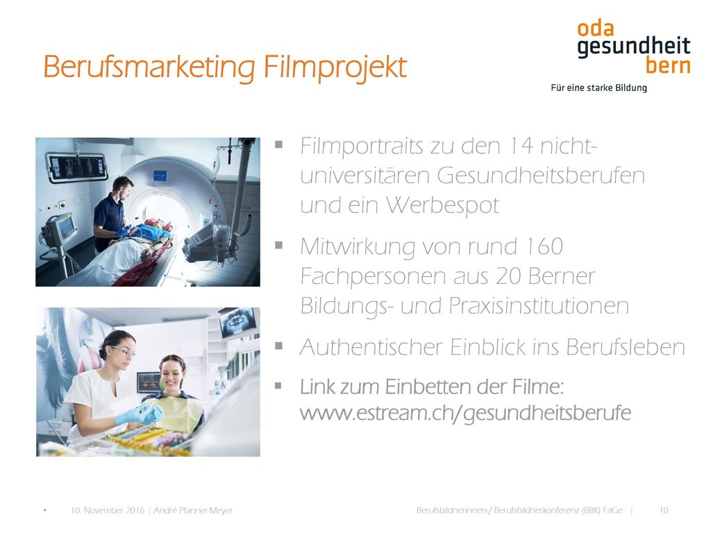 Berufsmarketing Filmprojekt