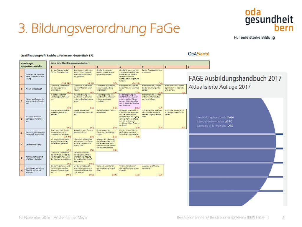 3. Bildungsverordnung FaGe