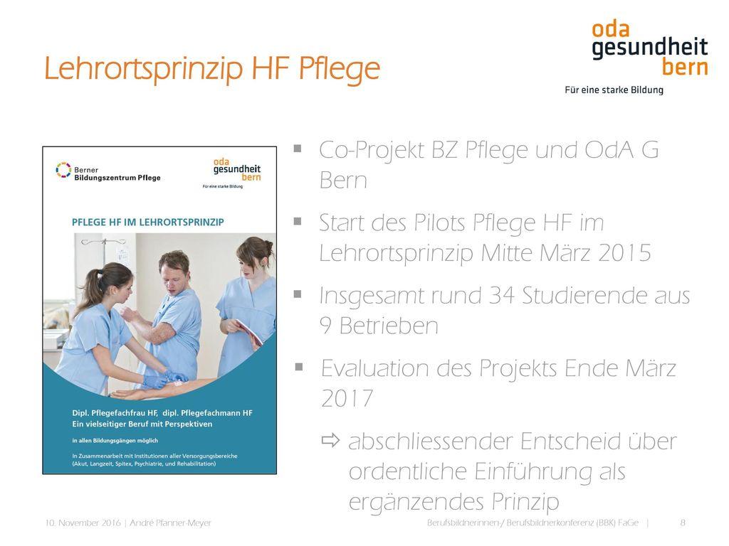 Lehrortsprinzip HF Pflege