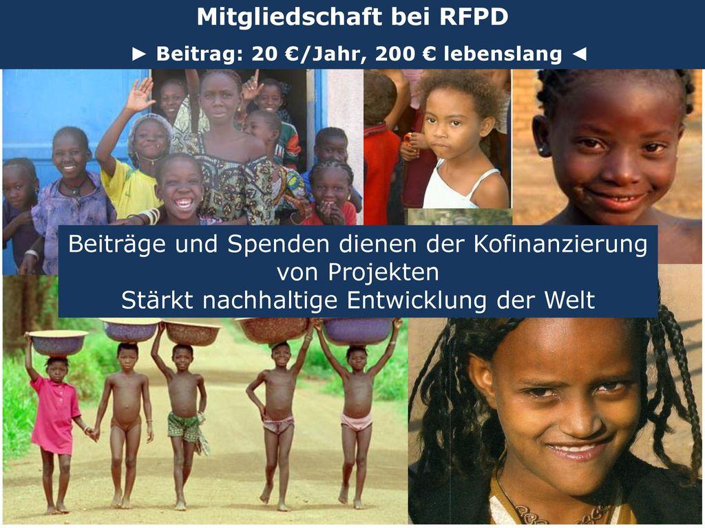 Mitgliedschaft bei RFPD ► Beitrag: 20 €/Jahr, 200 € lebenslang ◄
