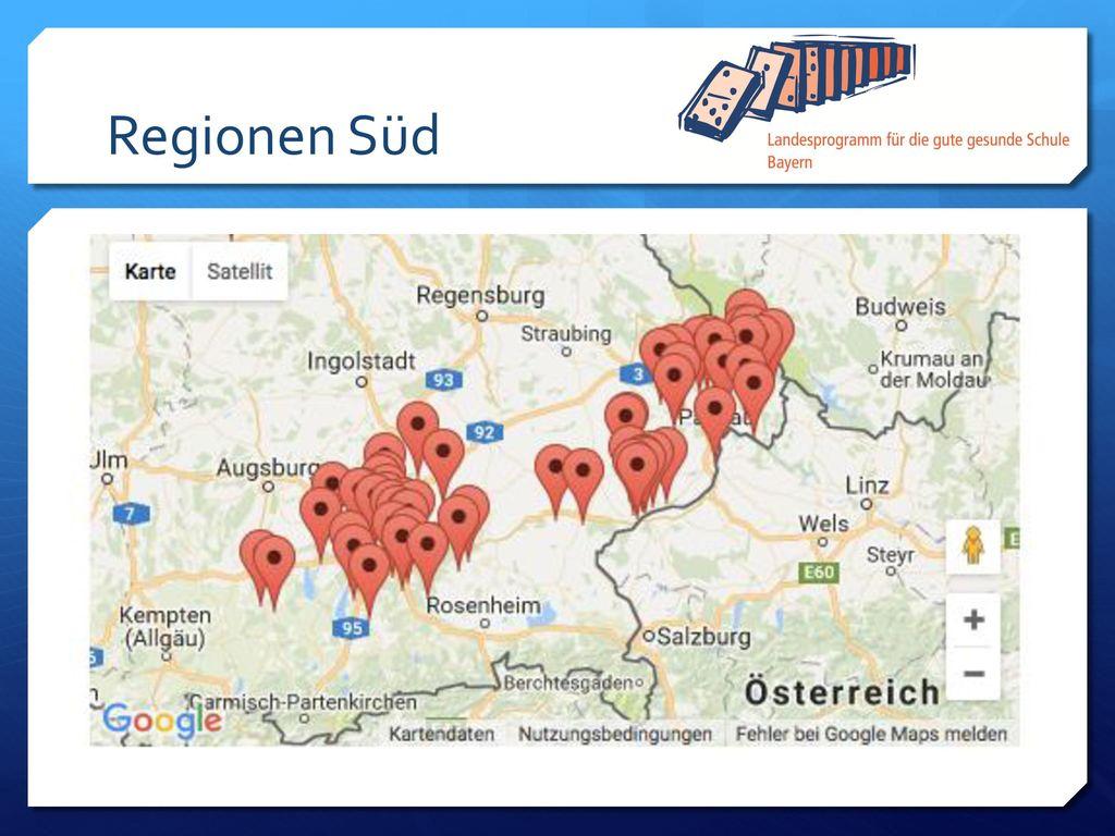 Regionen Süd